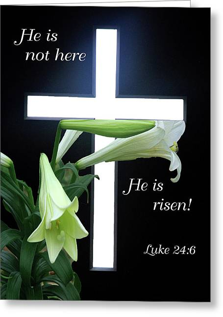 Christ Is Risen Greeting Card by Robyn Stacey