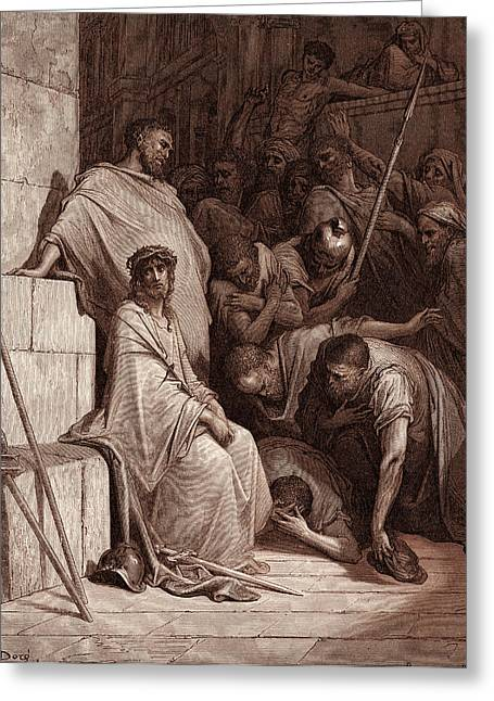 Christ Mocked, By Gustave Dore. Dore, 1832 - 1883 Greeting Card by Litz Collection
