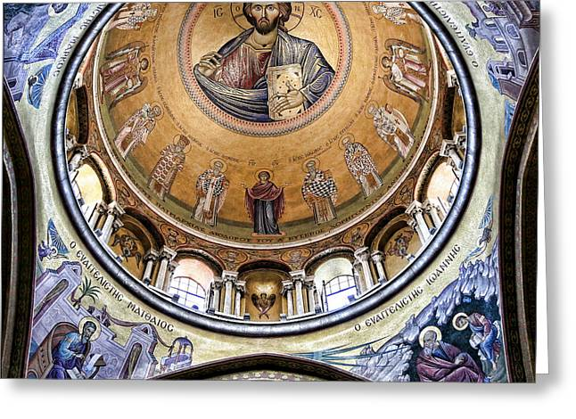 Christ Pantocrator -- No.5 Greeting Card by Stephen Stookey