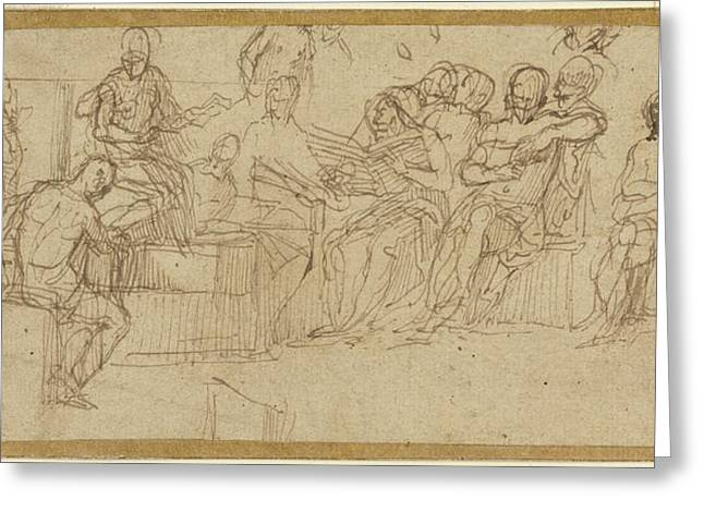 Christ Preaching In The Temple Paolo Veronese Paolo Caliari Greeting Card