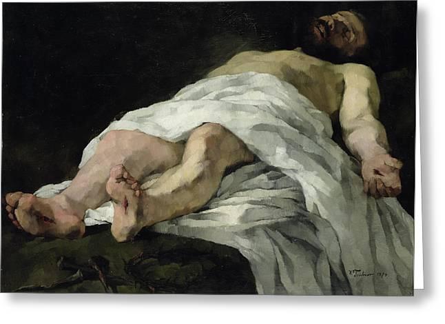 Christ Taken Down From The Cross Greeting Card by Heinrich Wilhelm Truebner