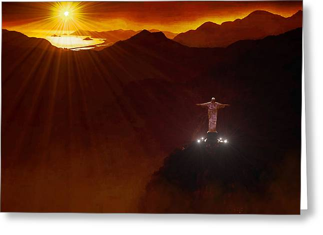 Christ The Redeemer Greeting Card by Michael Rucker
