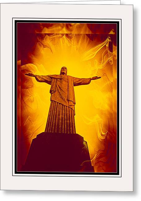 Christ The Redeemer Ver - 3 Greeting Card