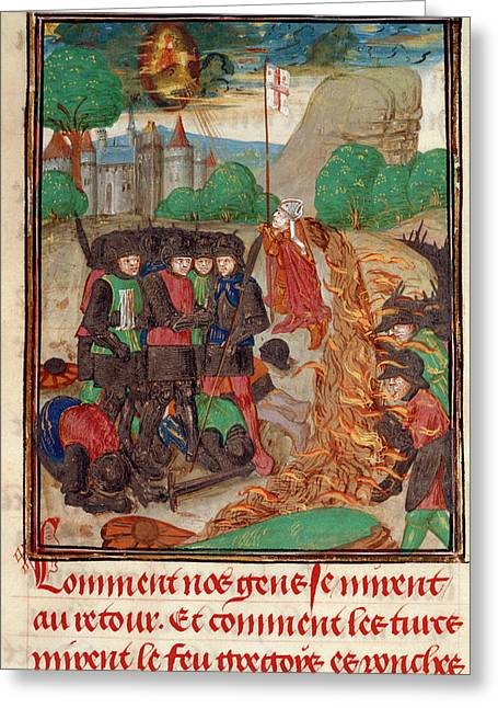 Christian Army Saved By Prayer Greeting Card by British Library