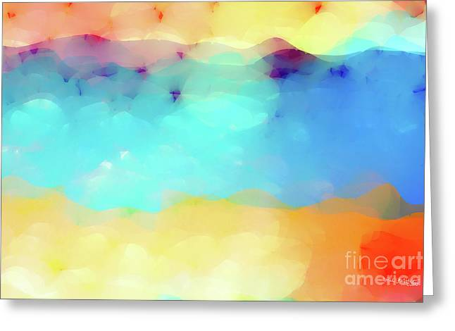 Christian Art- Peace I Leave With You. John 14 27 Greeting Card by Mark Lawrence