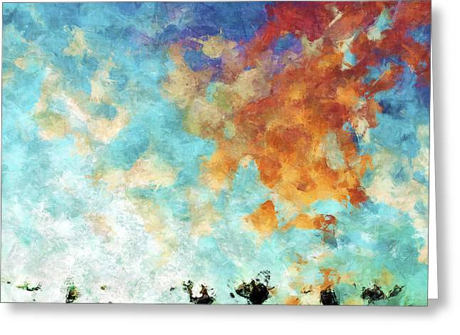 Christian Art- Shout With Joy. Psalm 100 1 Greeting Card by Mark Lawrence