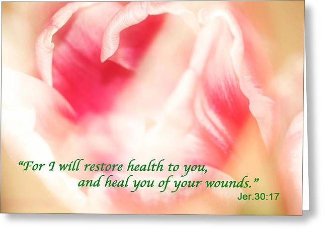 I Will Restore Health To You  Greeting Card