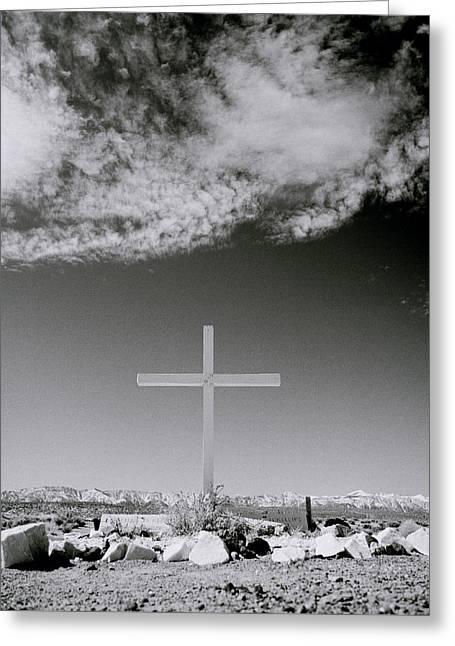 Christian Grave Greeting Card by Shaun Higson