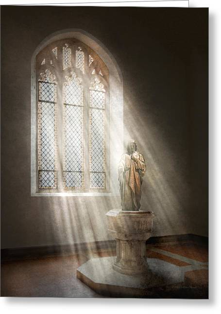 Christian - Heavenly Father Greeting Card by Mike Savad