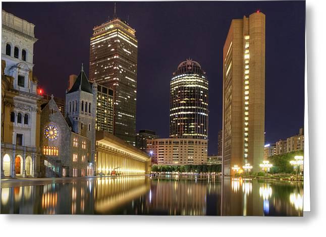 Christian Science Center-boston Greeting Card by Joann Vitali