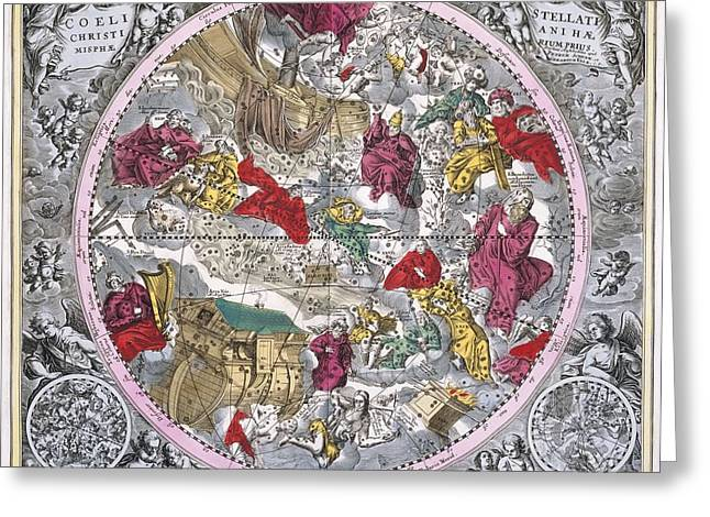 Christianized Constellations, 1708 Greeting Card