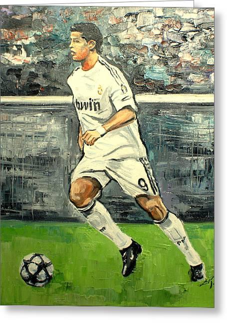 Christiano Ronaldo Greeting Card
