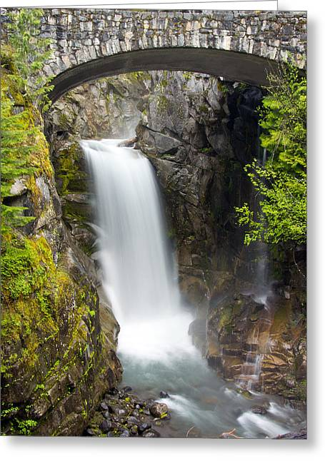 Greeting Card featuring the photograph Christine Falls by Bob Noble Photography