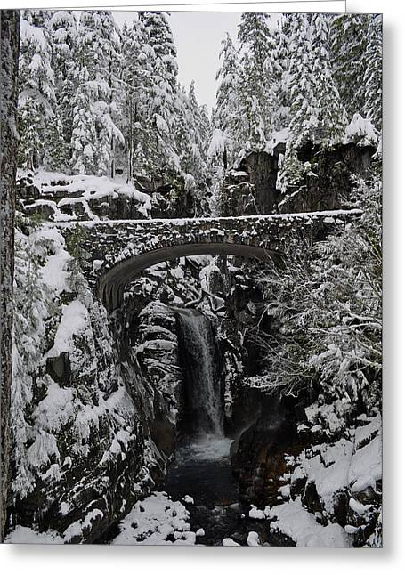 Christine Falls In The Winter Greeting Card by Tikvah's Hope