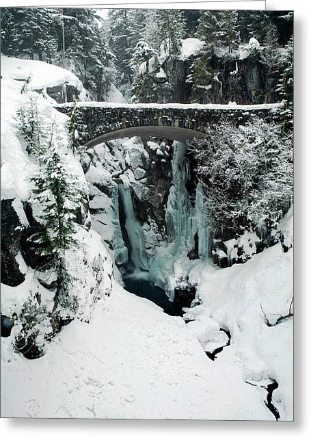 Christine Falls, Mount Rainier National Greeting Card by Tom Norring