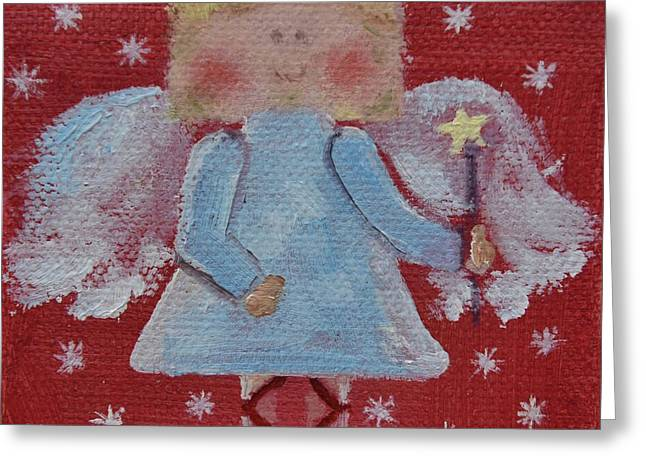 Christmas Angel Greeting Card by Donna Tuten