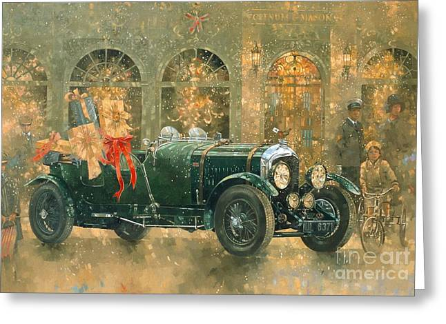 Christmas At Fortnum And Masons Greeting Card by Peter Miller