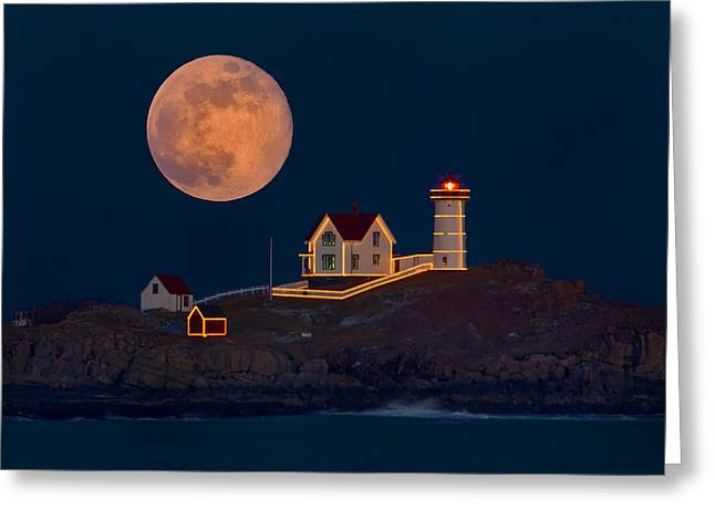 Christmas At Nubble Greeting Card