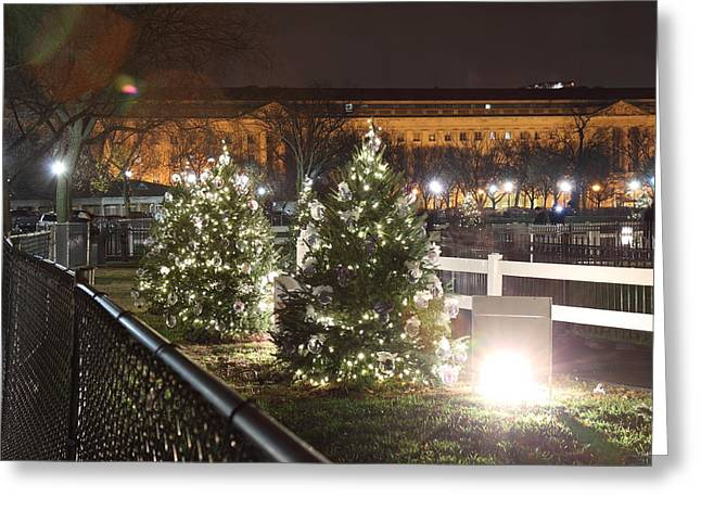 Christmas At The Ellipse - Washington Dc - 01131 Greeting Card