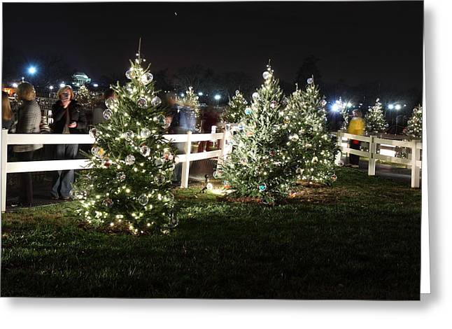 Christmas At The Ellipse - Washington Dc - 01133 Greeting Card by DC Photographer