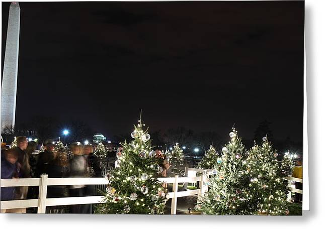 Christmas At The Ellipse - Washington Dc - 01135 Greeting Card by DC Photographer