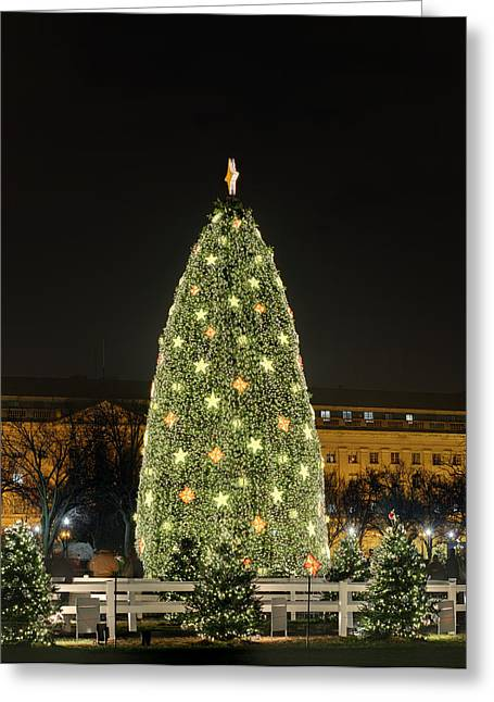 Christmas At The Ellipse - Washington Dc - 01139 Greeting Card by DC Photographer