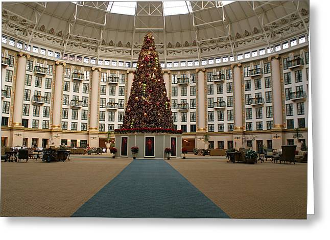 Indiana Christmas Greeting Cards - Christmas at West Baden Greeting Card by Sandy Keeton