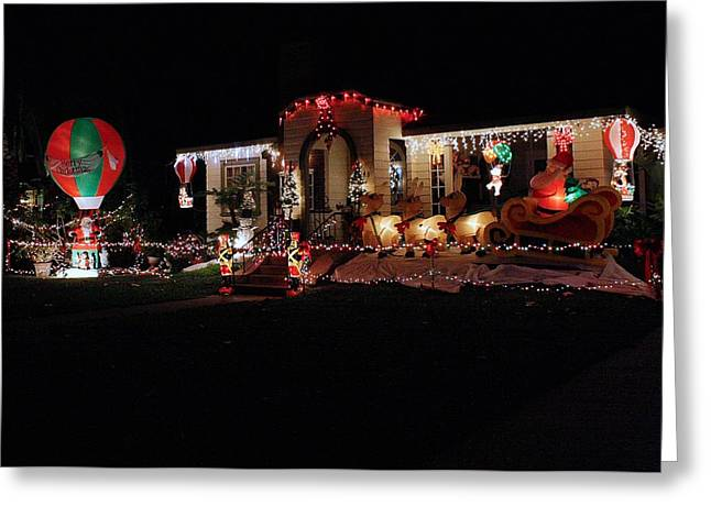 Christmas Baloon Greeting Card by Michael Gordon