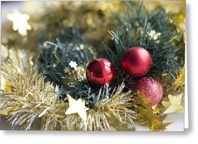 Greeting Card featuring the photograph Christmas Baubles by Jocelyn Friis
