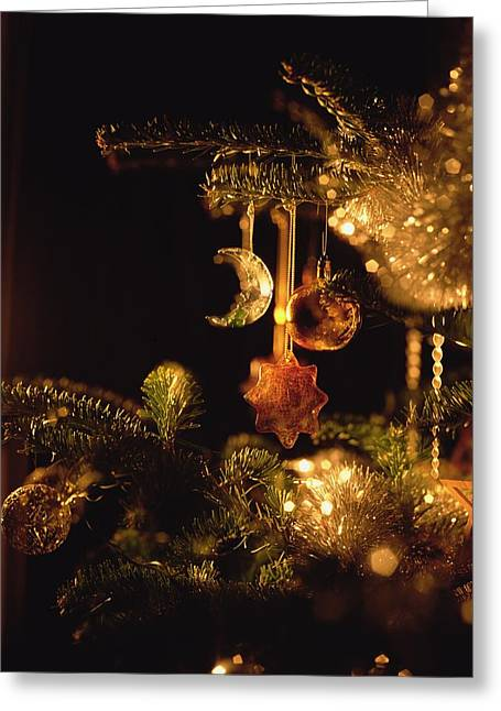 Christmas Baubles Greeting Card