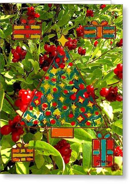 Christmas Berries Greeting Card by Patrick J Murphy