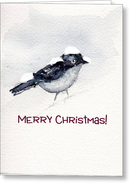 Greeting Card featuring the painting Christmas Birds 02 by Anne Duke