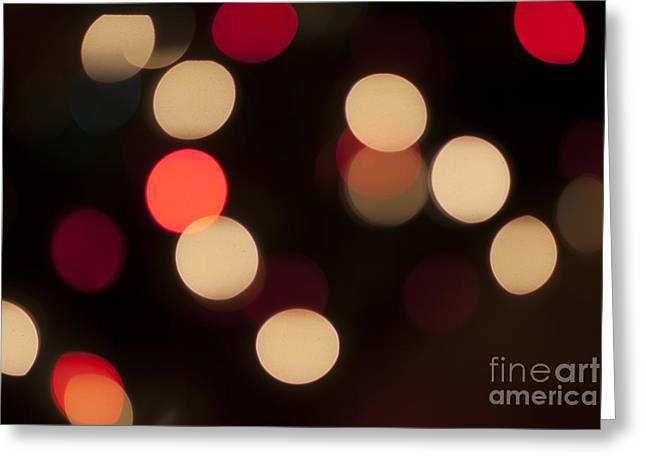 Christmas Bokeh Lights Greeting Card by Juli Scalzi