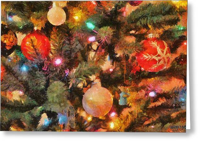 Christmas Branches Greeting Card by Jeffrey Kolker
