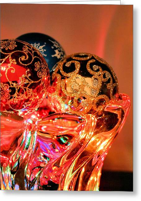 Christmas Bulbs Greeting Card by Kristin Elmquist