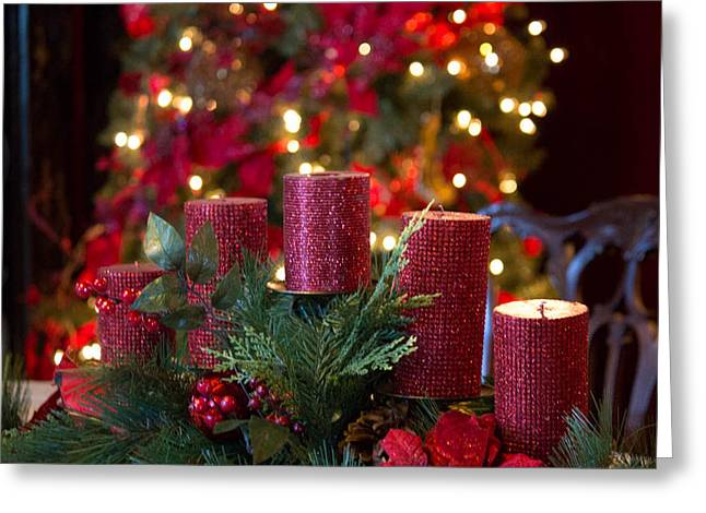 Christmas Candles Greeting Card by Patricia Babbitt