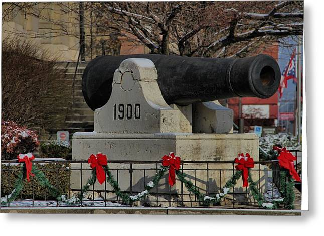Christmas Cannon Greeting Card by Dan Sproul