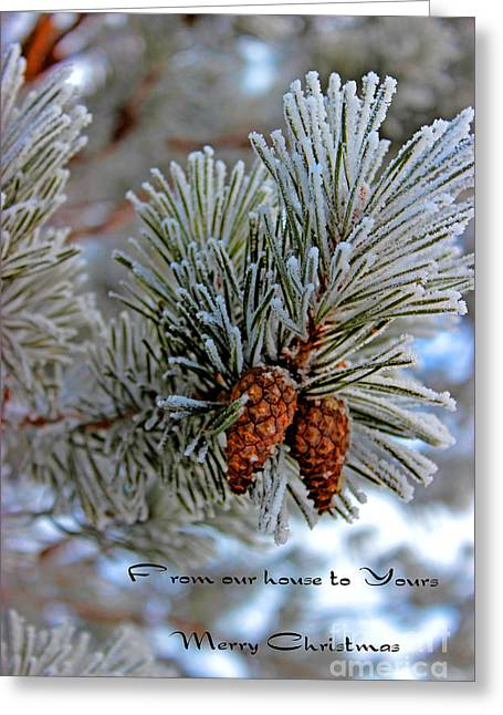 Christmas Card 2013 Two Greeting Card by Al Bourassa