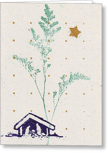 Christmas Card Greeting Card by Mary Adam