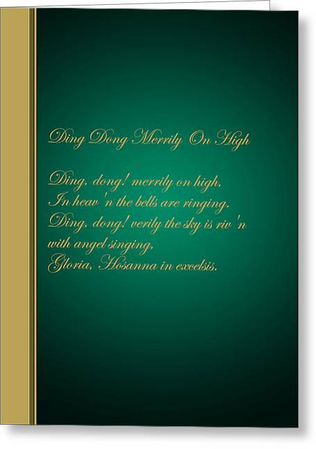 Christmas Carol 3 Greeting Card