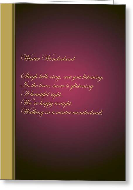 Christmas Carol 6 Greeting Card