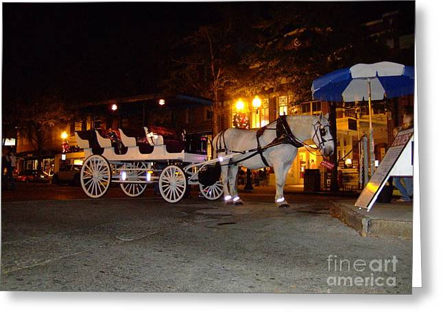 Greeting Card featuring the photograph Christmas Carriage by Bob Sample
