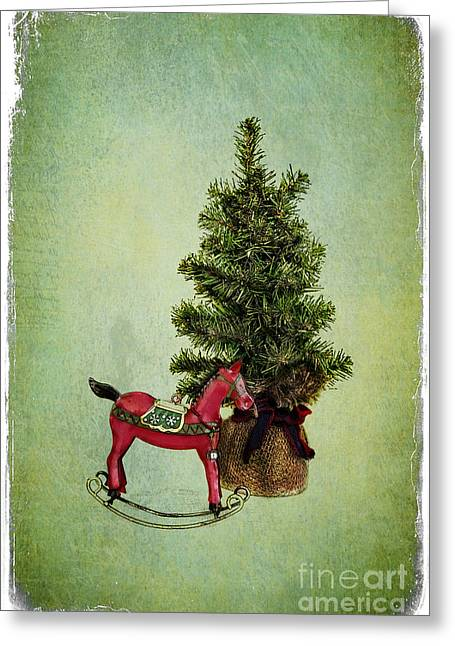 Christmas Cheer Greeting Card by Elena Nosyreva