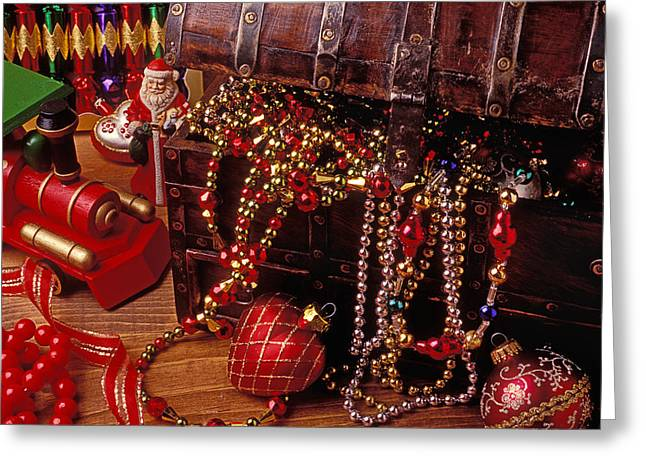 Christmas Chest Full Of Beads Greeting Card by Garry Gay