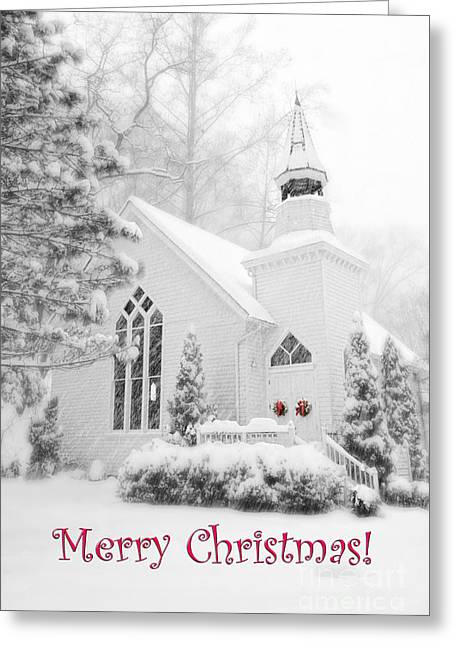 Historic Church Oella Maryland - Christmas Card Greeting Card by Vizual Studio
