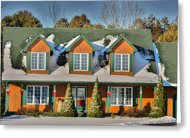 Christmas Cottage Greeting Card