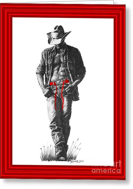 Christmas  Cowboy  De Noel Greeting Card