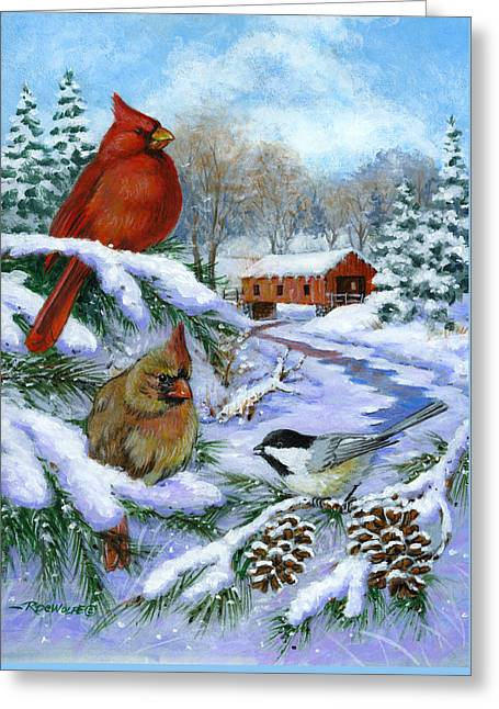 Christmas Creek Greeting Card