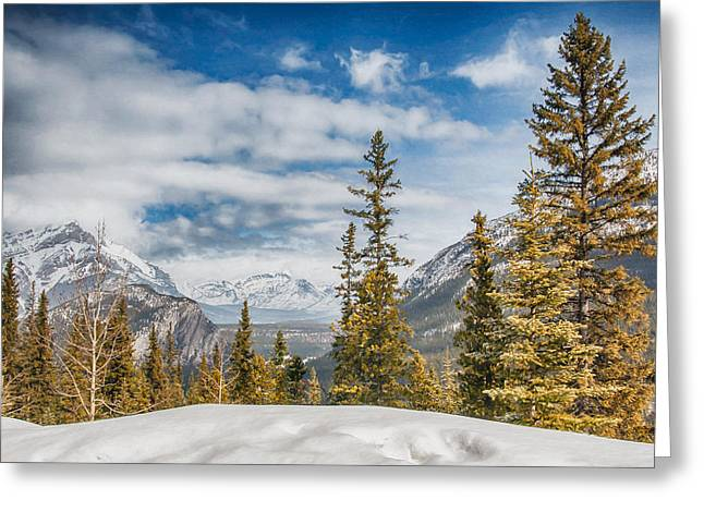 Christmas Day In Banff Greeting Card