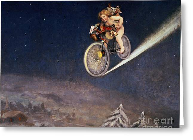 Christmas Delivery Greeting Card by Jose Frappa